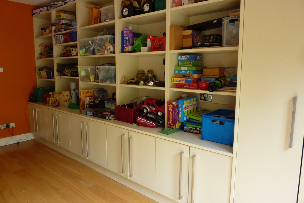 Toy Room Shelving AFTER