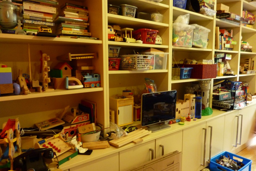 Toy Room Shelving BEFORE