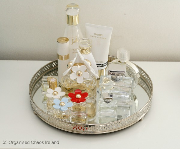 organised_perfume_in_bedroom-by-by Organised Chaos, Ireland's #1 organisation expert providing professional Home and Office organising and decluttering services in Dublin, Ireland and Virtual Organising services worldwide