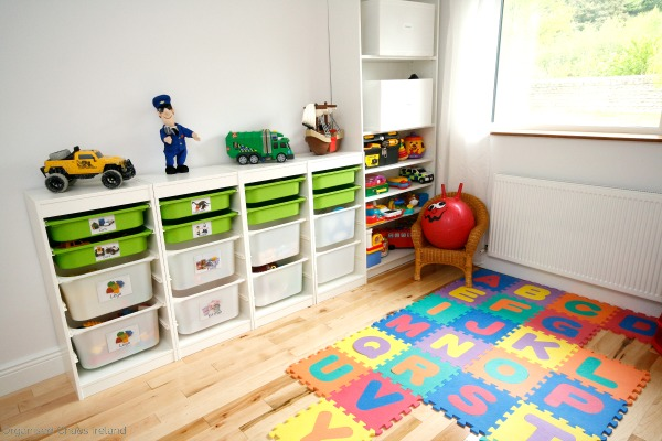 Toy_room_design_and_organised_by_by Organised Chaos, Ireland's #1 organisation expert providing professional Home and Office organising and decluttering services in Dublin, Ireland and Virtual Organising services worldwide