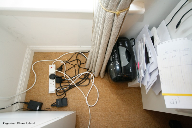 Office_cable_management-by Organised Chaos, Ireland's #1 organisation expert providing professional Home and Office organising and decluttering services in Dublin, Ireland and Virtual Organising services worldwide