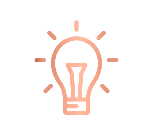 Lightbulb icon for organising consultations and corporate services by Sarah Reynolds of Organised Chaos, Ireland's best professional organiser. Serving customers in Dublin, Europe and internationally with expert home decluttering and corporate services for offices and companies.