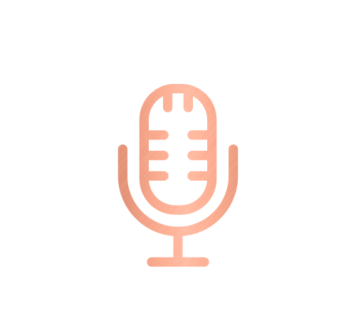 Microphone icon for speaking engagements and corporate services by Sarah Reynolds of Organised Chaos, Ireland's best professional organiser. Serving customers in Dublin, Europe and internationally with expert home decluttering and corporate services for offices and companies.