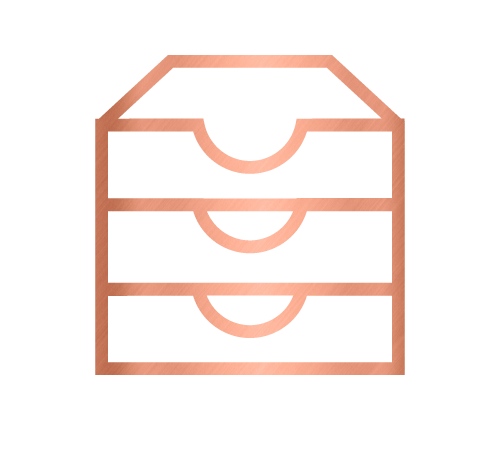 Storage icon for office storage systems and corporate services by Sarah Reynolds of Organised Chaos, Ireland's best professional organiser. Serving customers in Dublin, Europe and internationally with expert home decluttering and corporate services for offices and companies.