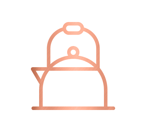 Kettle icon for the kitchen and home organising service by Sarah Reynolds of Organised Chaos, Ireland's best professional organiser. Serving customers in Dublin, Europe and internationally with expert home decluttering and corporate services for offices and companies.