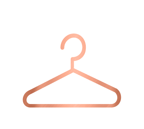 Hanger icon for the wardrobe and home organising service by Sarah Reynolds of Organised Chaos, Ireland's best professional organiser. Serving customers in Dublin, Europe and internationally with expert home decluttering and corporate services for offices and companies.