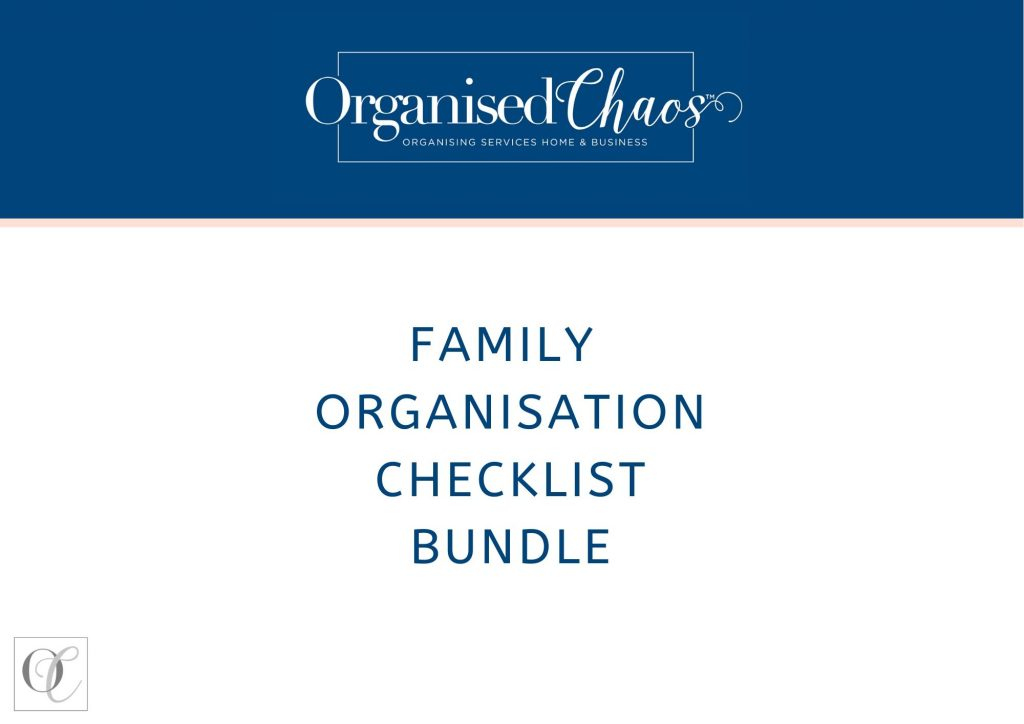 Family organisation checklist bundle